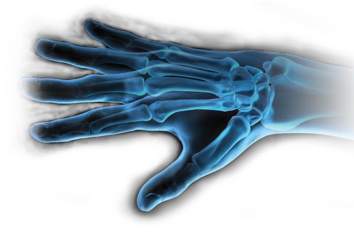 X-ray Hand Background