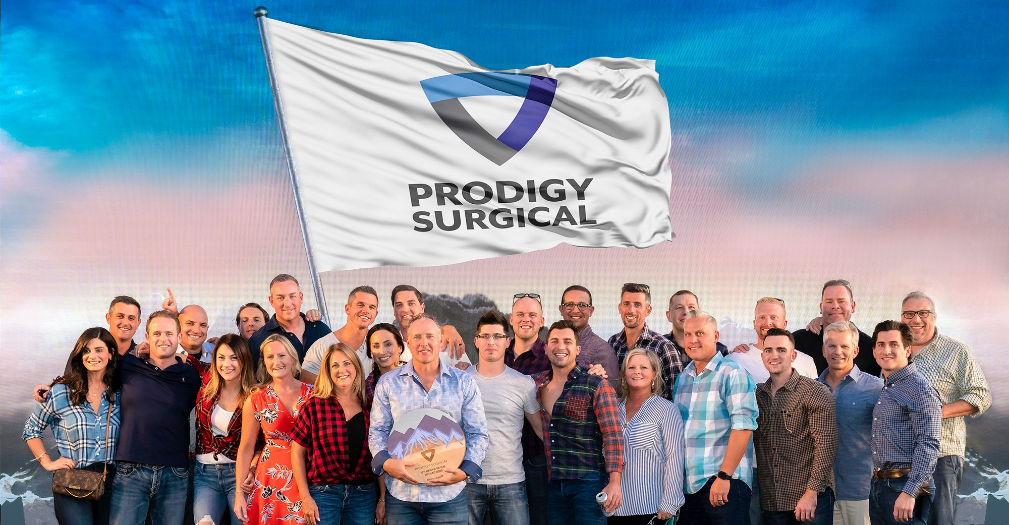 Group picture of Prodigy Surgical team members.
